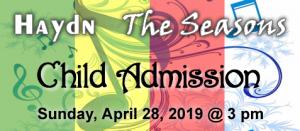 Haydn Seasons Child Admission